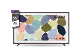 "TV FRAME 55"" QLED 4K + Marco Marrón"