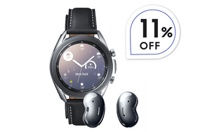Combo Sports 3 - Galaxy Buds Live + Galaxy Watch3 Stainless BT 41 mm